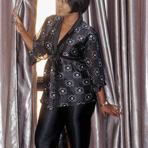 Afro lingerie femme couleur noire avec pantalon